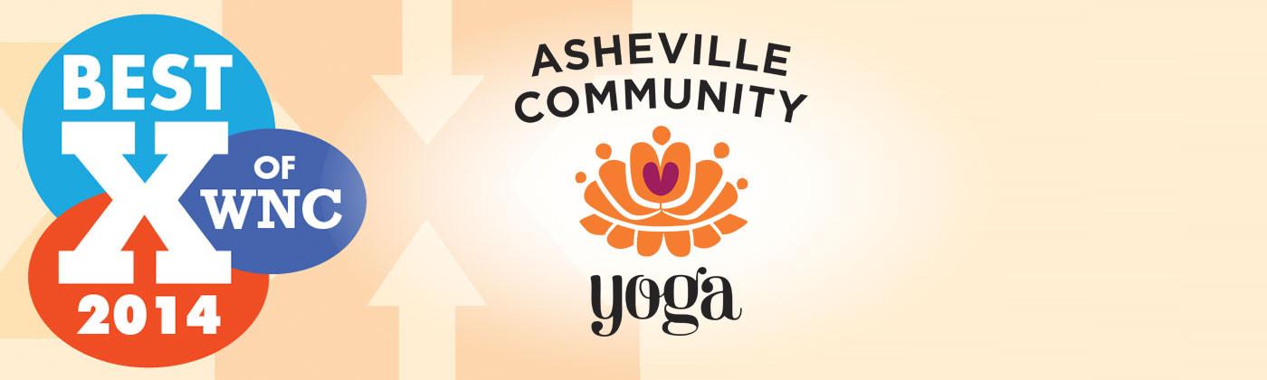 Asheville Community Yoga Voted Best of WNC Yoga Studio!