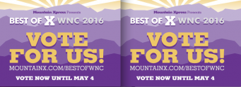 VOTE! Help Us Win Best Yoga Studio in WNC for Sixth Straight Year!