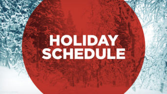 Our Holiday Schedule – Please Note Changes